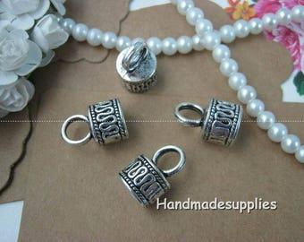 Set of 6 vials (Cfdco) tassel necklace, silver metal caps