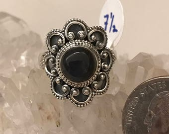 Black Onyx Ring Size 7 1/2