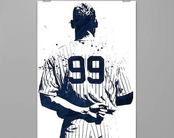 Aaron Judge-New York Yankees art print Baseball poster Sport wall art Man cave Dorm decor Gift for him Modern art print #0097  sc 1 st  Etsy & Yankees art | Etsy