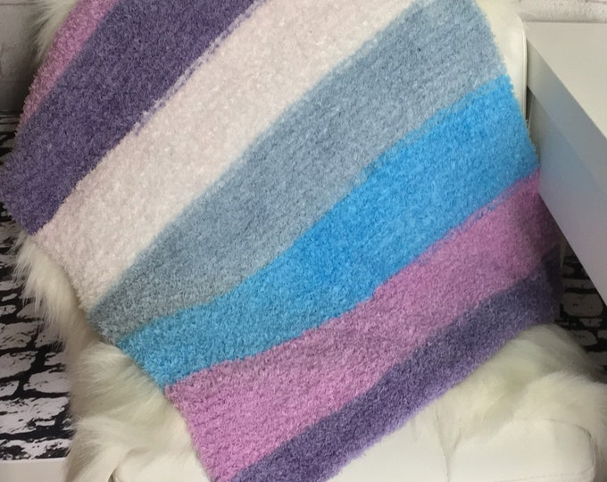 Soft knitted pet blanket / dog blanket / cat blanket / gift for dogs / gifts for cats / boho pets / ready to ship / made in Canada /