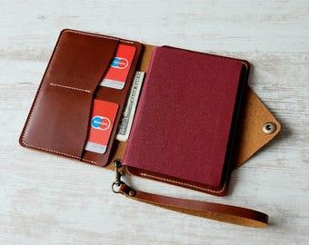 Leather passport cover, leather passport holder, passport holder, passport cover, passport wallet, passport holder handmade