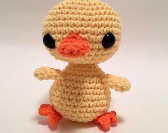 crochet amigurumi Duck toy, Stuffed Toy, Plush, Plushy, Stuffed Animal, Toy, Stuffed Duckling, baby toy, Baby Shower Gift, crochet duckling