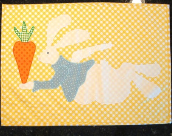 Handmade Easter Placemats, Bunny Angel, Set of 4 Placemats, Decorations