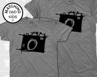 Sketch Camera - Matching Shirts (Dad & Kid)