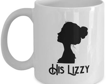 His Lizzy Mug Gift for Wife Girlfriend Couples Pride and Prejudice Jane Austen Darcy Coffee Cup