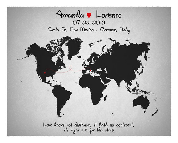 Wedding guest book custom world map long relationship gumiabroncs Image collections