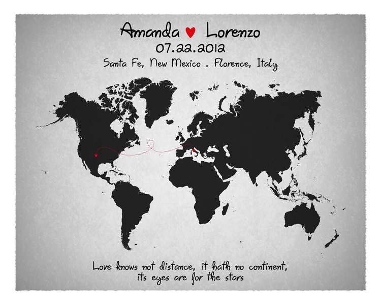Wedding guest book custom world map long relationship zoom gumiabroncs Choice Image