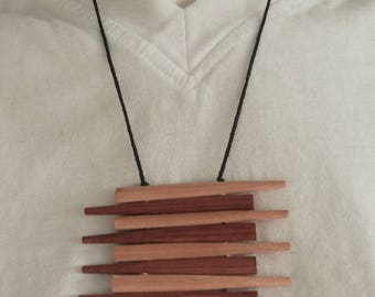 Chopstick Necklace-striped