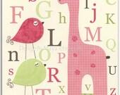 Kids ABC Nursery Art // C...