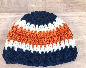 Crochet premie, crochet newborn hat,baby boy hat, crochet baby hat, Detroit tigers hat
