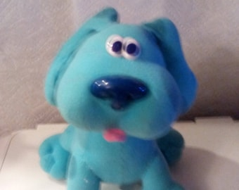 """Vintage 1997 Tyco Blue's Clues Sing-Along Blue Plush Dog Toy Song Barks 12"""""""