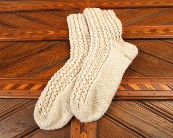 Finland Wool Socks Hand Knitted Bed Socks House Leg Warmers Autumn Winter Gift for her