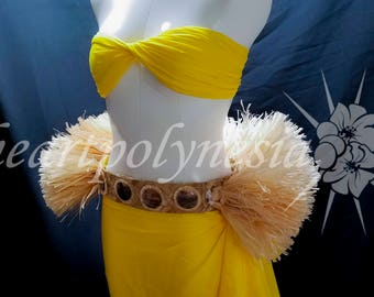 Tahitian costume banded half belt