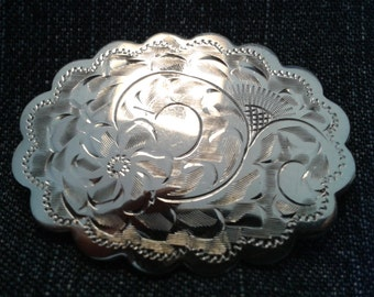 Vintage Sterling Silver Scalloped Brooch by Birks