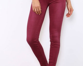 Overdyed Cotton Skinny Jeans.
