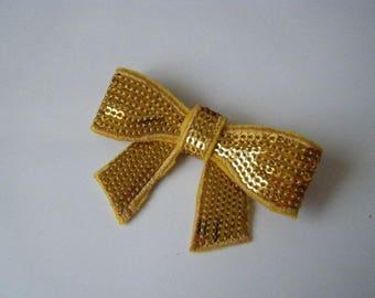 ♥ ♥ Gold bow brooch shiny ♥