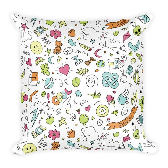 High School Neon Pillow