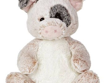 Personalized Keepsake Animal/ Plush Pig/ Birth Announcement/ Personalized Birthday/ Personalized Baby Shower/ Personalized Gift