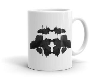 Therapist Gift Psychology Mug inspired by Rorschach Inkblot Art 6