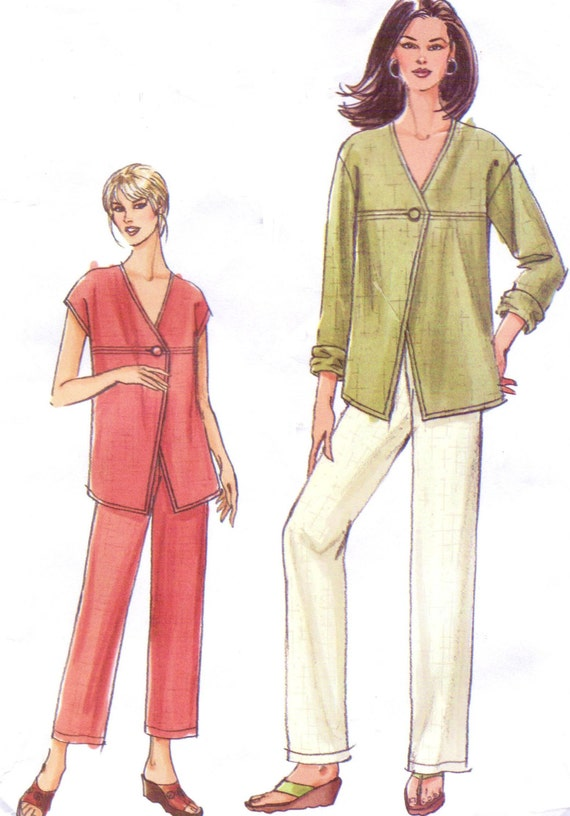 Womens Unlined Jacket or Top and Pants OOP Vogue Sewing Pattern ...