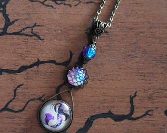 Necklace bronze Mermaid