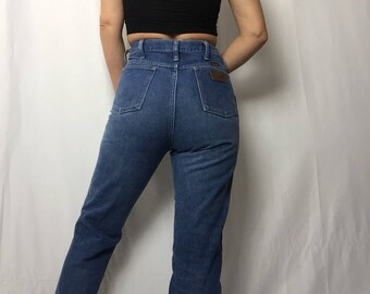 Vintage 'Wrangler' Jeans | High Waisted | Boot Cut | Western | Rodeo | Denim |