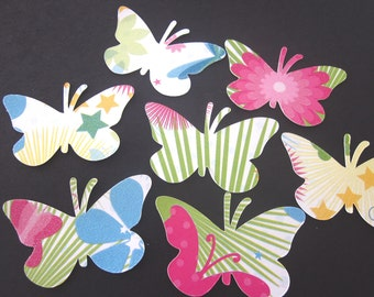 35 Multi Colored  Butterfly Die Cuts
