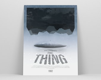 The Thing ~ Horror Movie Poster, Minimalist Poster, Gifts for Him, Boyfriend Gift, Art Print, Wall Art
