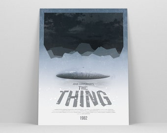 The Thing ~ Minimal Movie Poster, Retro Minimalist Art Print by Christopher Conner
