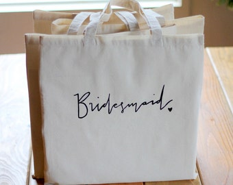 Bridesmaid Gift Tote Bag Bridal Party Gift Wedding Favor