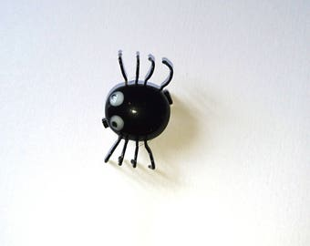 Small spider fusing glass fused glass brooch
