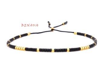BOHO bracelet Friendship Bracelet black gold