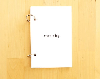 Our City - Printable Journal Prompts - Mini Books - Memory Keepsake - City Scrapbook - Guided Journal Pages - Story Prompts Memory Keeping