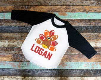 Football Turkey bodysuit or T-Shirt - Personalized - Infant Toddler shirt, Thanksgiving, fall, turkey