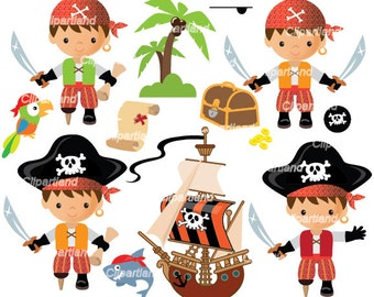 INSTANT Download.   Pirates clip art. Cp_72_Pirates. Personal and commercial use.