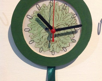 Green Man Dreamcatcher Clock