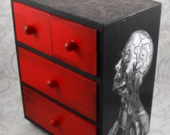 Black and White Vintage Anatomy Stash Jewelry Box