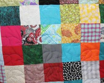 50% Deposit - Lap Quilt - Scrappy Patchwork Quilt - Lap Size Quilt - DEPOSIT ONLY