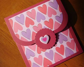Gift Card Holder - Valentine Gift Card - Money Valentine Card -  Cash Valentine Card - Gift Card Valentine Card - Handmade Greeting Card