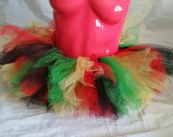 Rasta tutu! Rave tutu! Festival outfit! Mary Jane skirt! 420 tutu! Ganja girls!