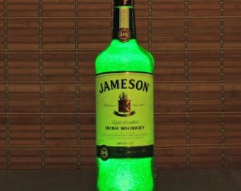 Jameson Irish Whiskey Liquor Bottle Lamp Accent Light Bar Man Cave Fathers Day