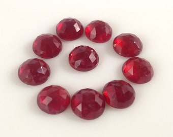 10.10 Cts  NATURAL Ruby Rose Cut  Round Lot of 10 Pcs OF MM = 6X6