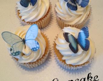 Shades of Blue Edible Butterflies