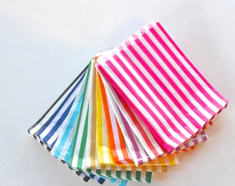 Striped Paper Bags - Striped Paper Party Bags - Birthday Party Supplies - Wedding Favour Bags - Favour Bags - Striped Bags - Gift Bags