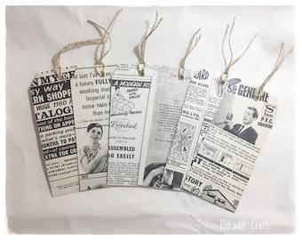 Vintage Advert Junk Journal Tags, Masculine Tags, Tags For Junk Journals, Vintage Home Improvement Adverts, DIY Themed, Vintage DIY, 1960's