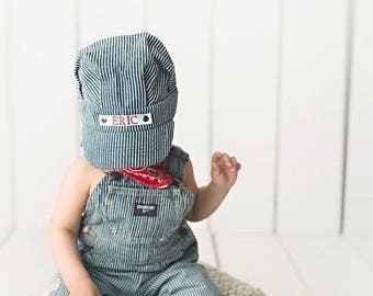 Toddler Train Hat, Toddler Train Party, Train Birthday, Train Party, Train Party Favors, Personalized Hat, Vintage Train Party, Toddler Boy