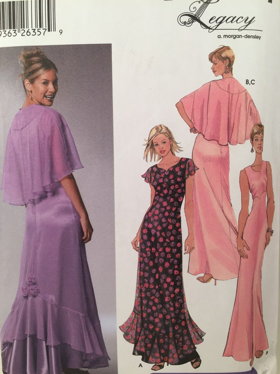 Evening Dress, Simplicity 5674, Sewing Pattern, Capelet Pattern ...