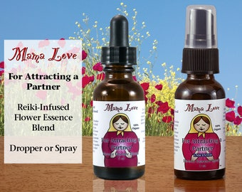 Attracting a Partner, Flower Essence Dropper or Spray, Elixir, Organic, Reiki-Infused Bach Flower, North American Flowers, Feeling Loveable
