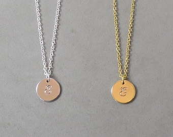 Engraved Initial E Necklace