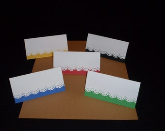 Spring! Bright and Bold Tent Card for Weddings and Parties